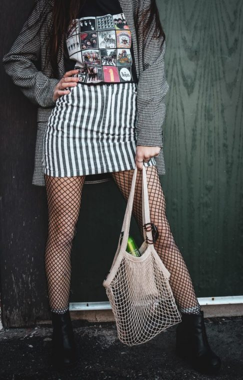 UnEARTH Netted Bag Striped Skirt