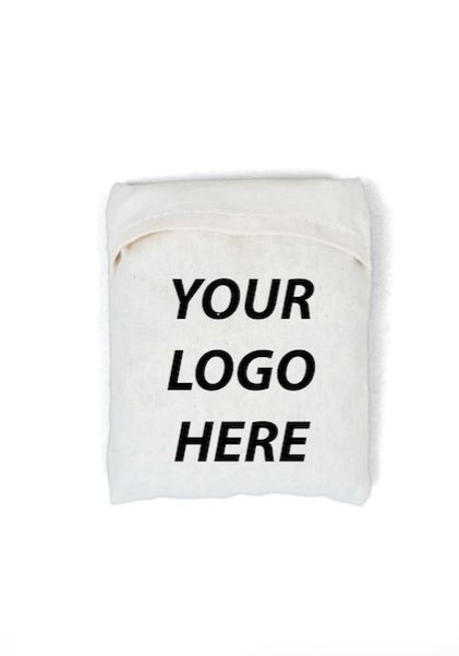 UnEARTH Netted Bag Folded into the pocket with your logo here written on it indicating logos being placed in its position