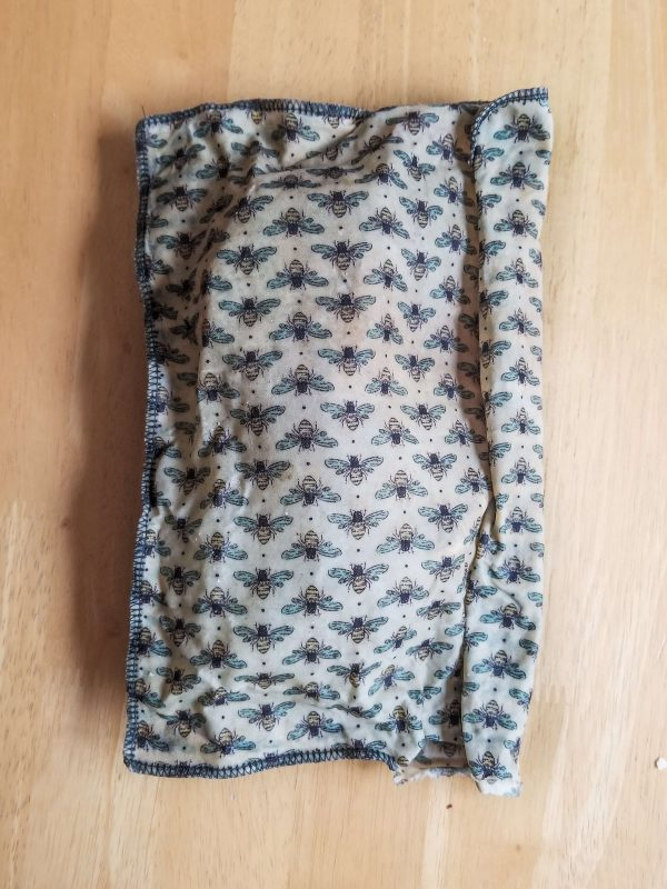 Folded large beeswrap bag
